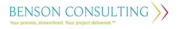 Benson Consulting Inc.